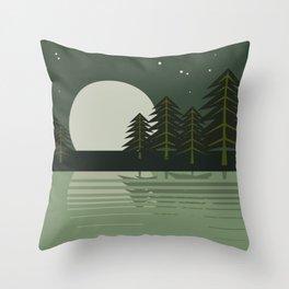 Skeleton Trees Throw Pillow