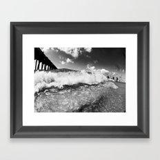 shore break Framed Art Print