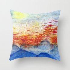 Autumn Wind on Blue Ridge Throw Pillow