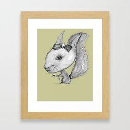 NORDIC ANIMAL  - SUZY THE SQUIRREL  / ORIGINAL DANISH DESIGN bykazandholly Framed Art Print