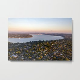 Sunset in Seattle (Seward Park) Metal Print