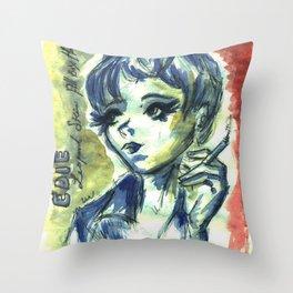 Edie Sedwick Throw Pillow