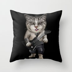 METALCAT Throw Pillow