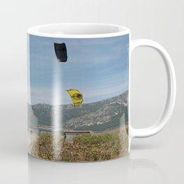 Kitesurfing at Akcapinar, Gokova Akyaka, Turkey Coffee Mug