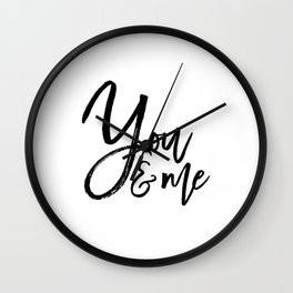 you and me embroidery wedding embroidery design ampersand applique Wall Clock
