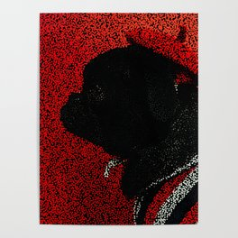 Dog in a Beret Poster