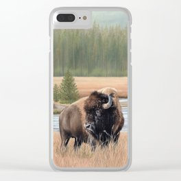 American Bison Painting Clear iPhone Case