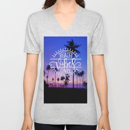 Beach Vibes Only Unisex V-Neck