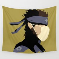 solid Wall Tapestries featuring Paramedic Solid Snake by DonCorgi
