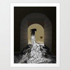 Ghost in the Hallway Art Print
