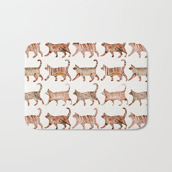 Cat Collection – Sepia Palette Bath Mat
