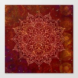 Rust Red Mandala Canvas Print