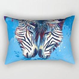 Friendship - Zebra portraits Rectangular Pillow
