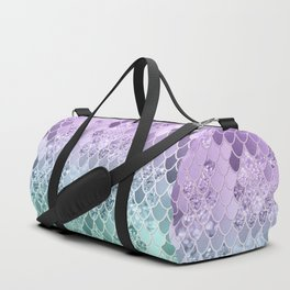 Mermaid Glitter Scales #1 #shiny #decor #art #society6 Duffle Bag