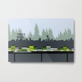 Seattle in Color Metal Print