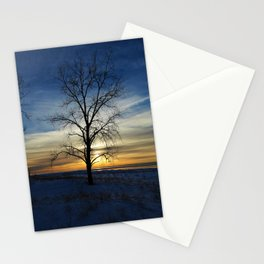 Sunset tree Stationery Cards