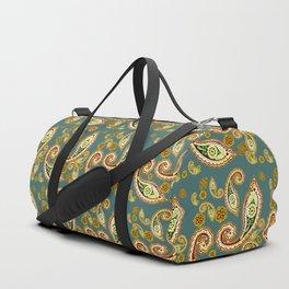 Oriental Pattern Blue Duffle Bag