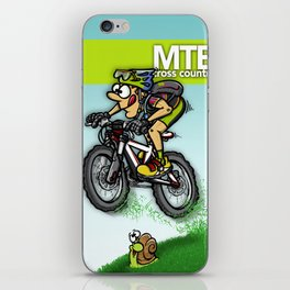 MTB cross country iPhone Skin