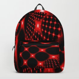 Red glowing net fractal Backpack