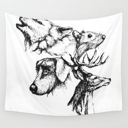 Moony Wormtail Padfoot Prongs Wall Tapestry