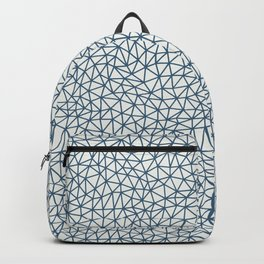 Blue Abstract Triangle Shape Pattern on Off White Pairs To 2020 Color of the Year Chinese Porcelain Backpack