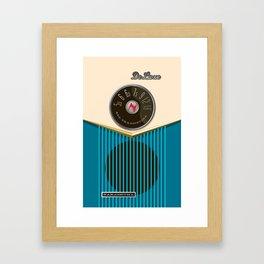 The Nakashuma Mark 1 in Blue Framed Art Print