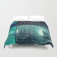 stargate Duvet Covers featuring Through the storm by Samy