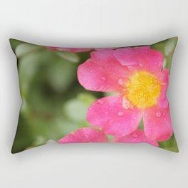 Neon Flowers Rectangular Pillow