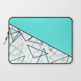 Abstract turquoise combo pattern . Laptop Sleeve