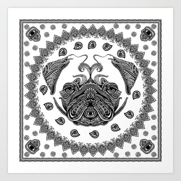 Henna of Pugly Art Print