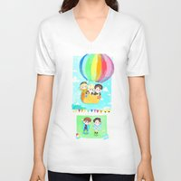shinee V-neck T-shirts featuring Lucky Star by sophillustration