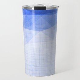 Blue Ocean Night - Minimal Metallic Geometry Travel Mug