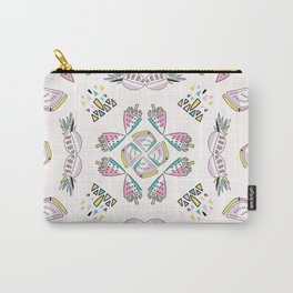 Memphis Tropical Fruit Pattern, Pinapples, Bananas, Watermelon Mandala Seamless Carry-All Pouch