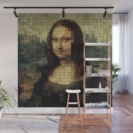 Mona Lisa on tiles Wall Mural