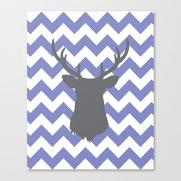 Purple chevron deer Canvas Print