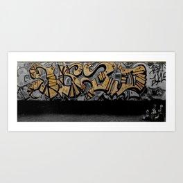 The Cover Up Orange Graffiti Art Print
