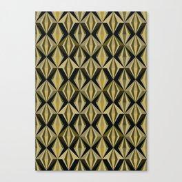 Angular, No. 02, Golden Canvas Print