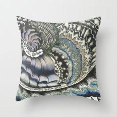 Golden Spiral (no fear) Throw Pillow