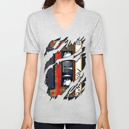 Retro cassette mix tape Unisex V-Neck