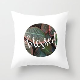 Blessed - Botanical     The Dot Collection Throw Pillow