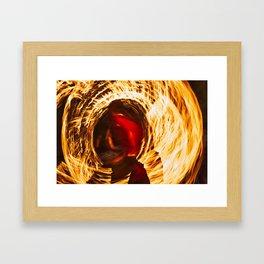 Fire Dancer 1 Framed Art Print