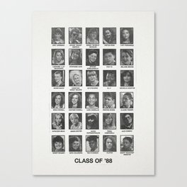 Degrassi Jr High - Class of 88 - Yearbook Art Canvas Print