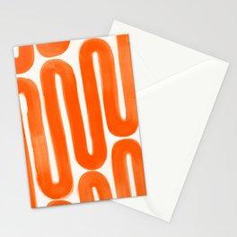 Poppy Orange Subway Stationery Cards