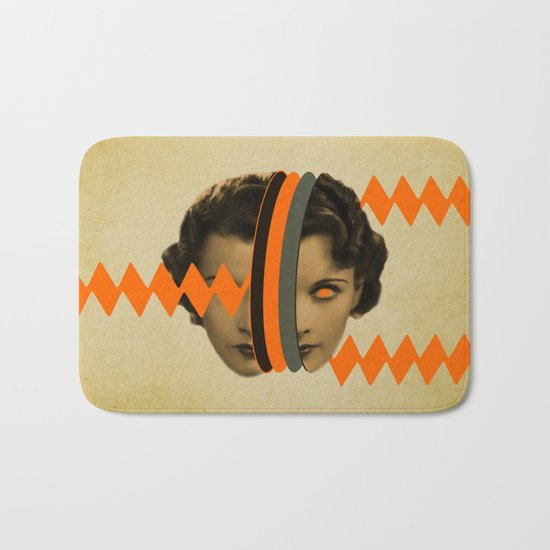 headache girl Bath Mat