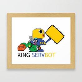 KING SERVBOT Framed Art Print