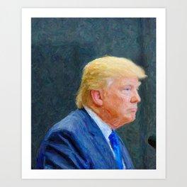 Portrait  of President Donald Trump Art Print
