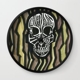 Skull Fiber Wall Clock