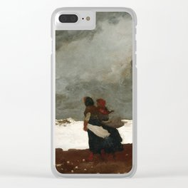 Winslow Homer - Two Figures by the Sea, 1882 Clear iPhone Case