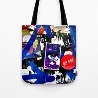 stickers Tote Bags featuring Stickers by very giorgious
