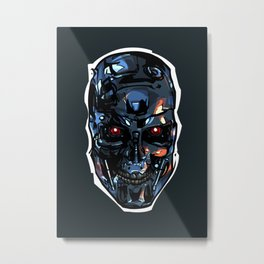 Terminator Head 2 Metal Print
